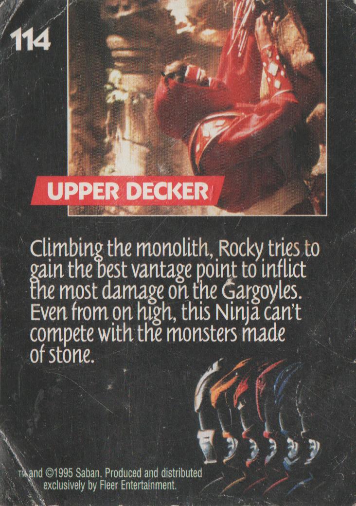1995 - Power Rangers The Movie - Red Ninja - number 114 - Upper Decker - Rocky-2.png