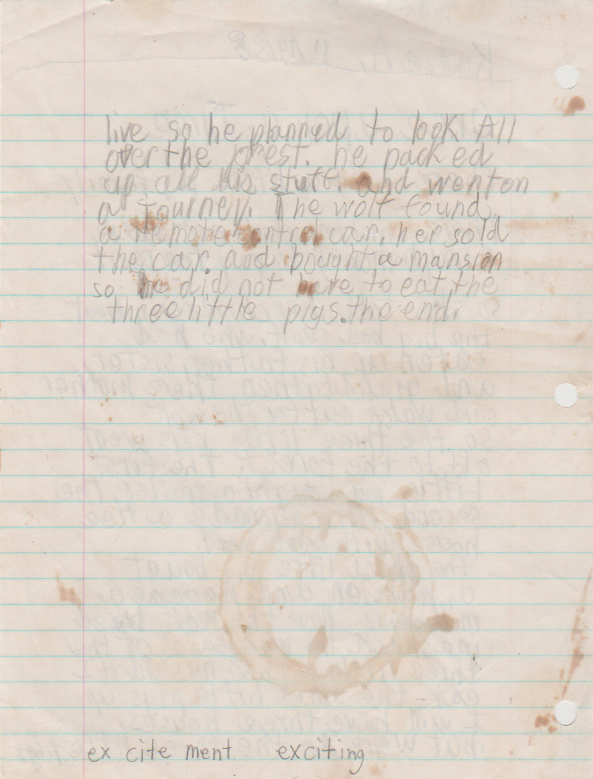 1988-11-14 - Monday - Pig Family Short Story, 2 pages, 8-year-old Katie Arnold-2.png