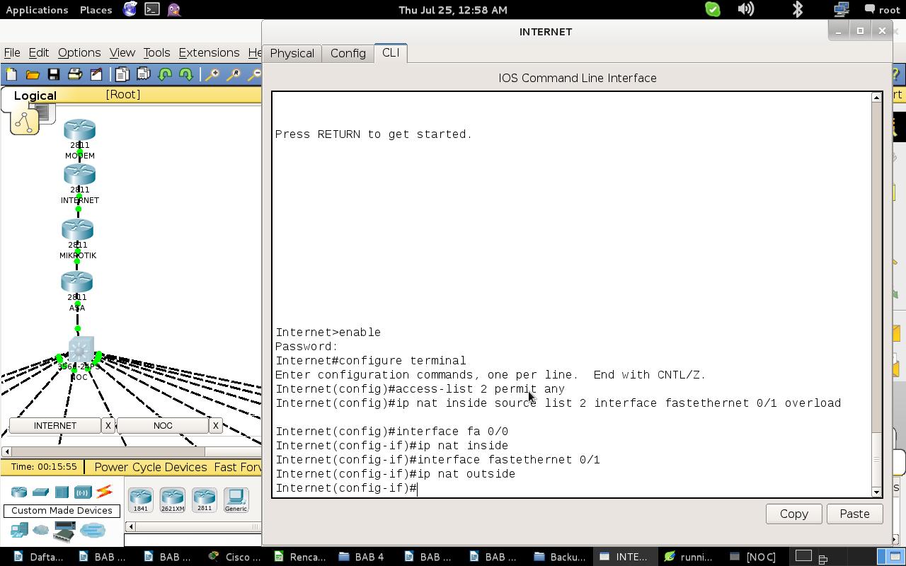 Konfigurasi NAT pada Router Internet