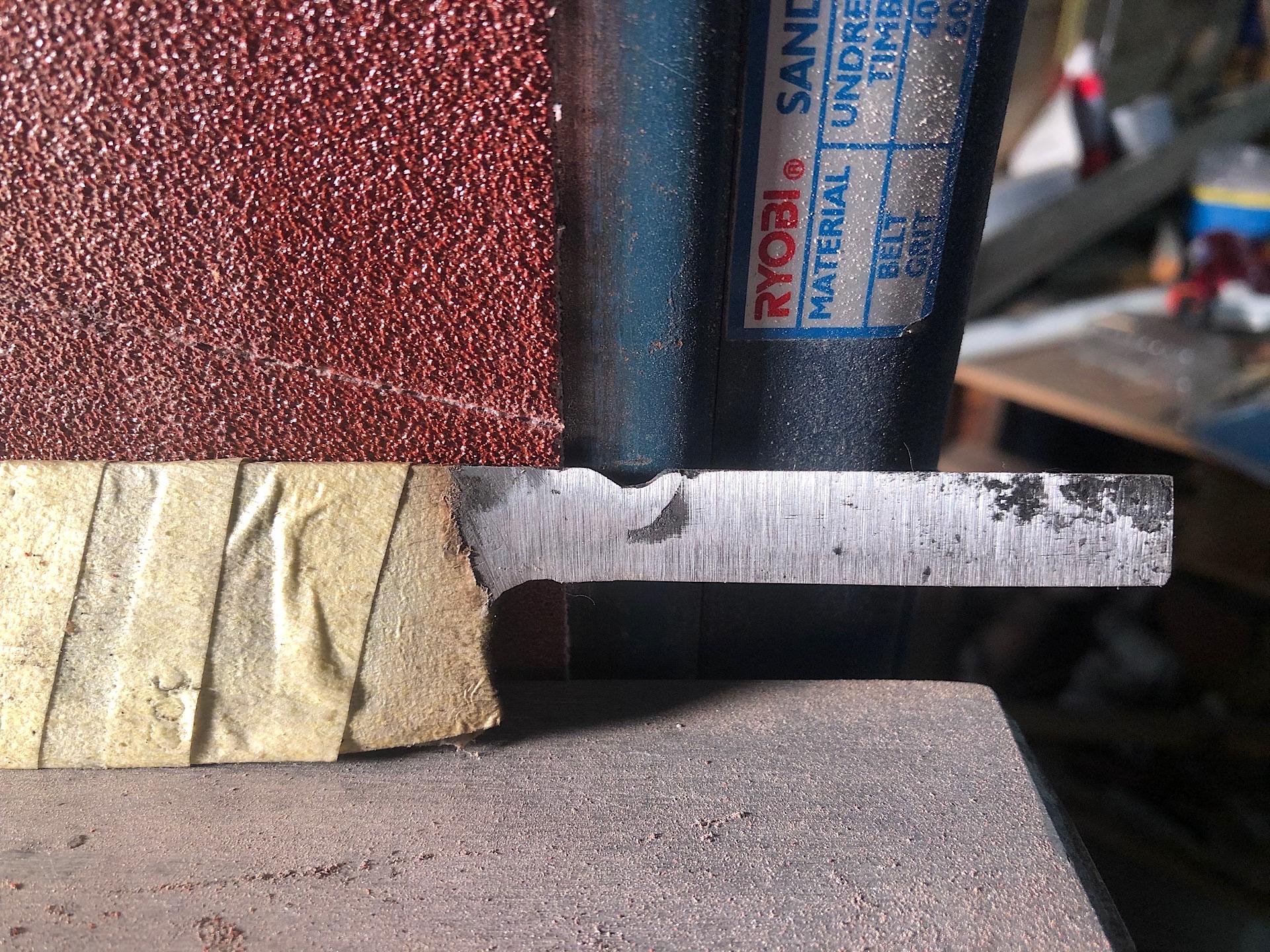 Sanded the welding blob