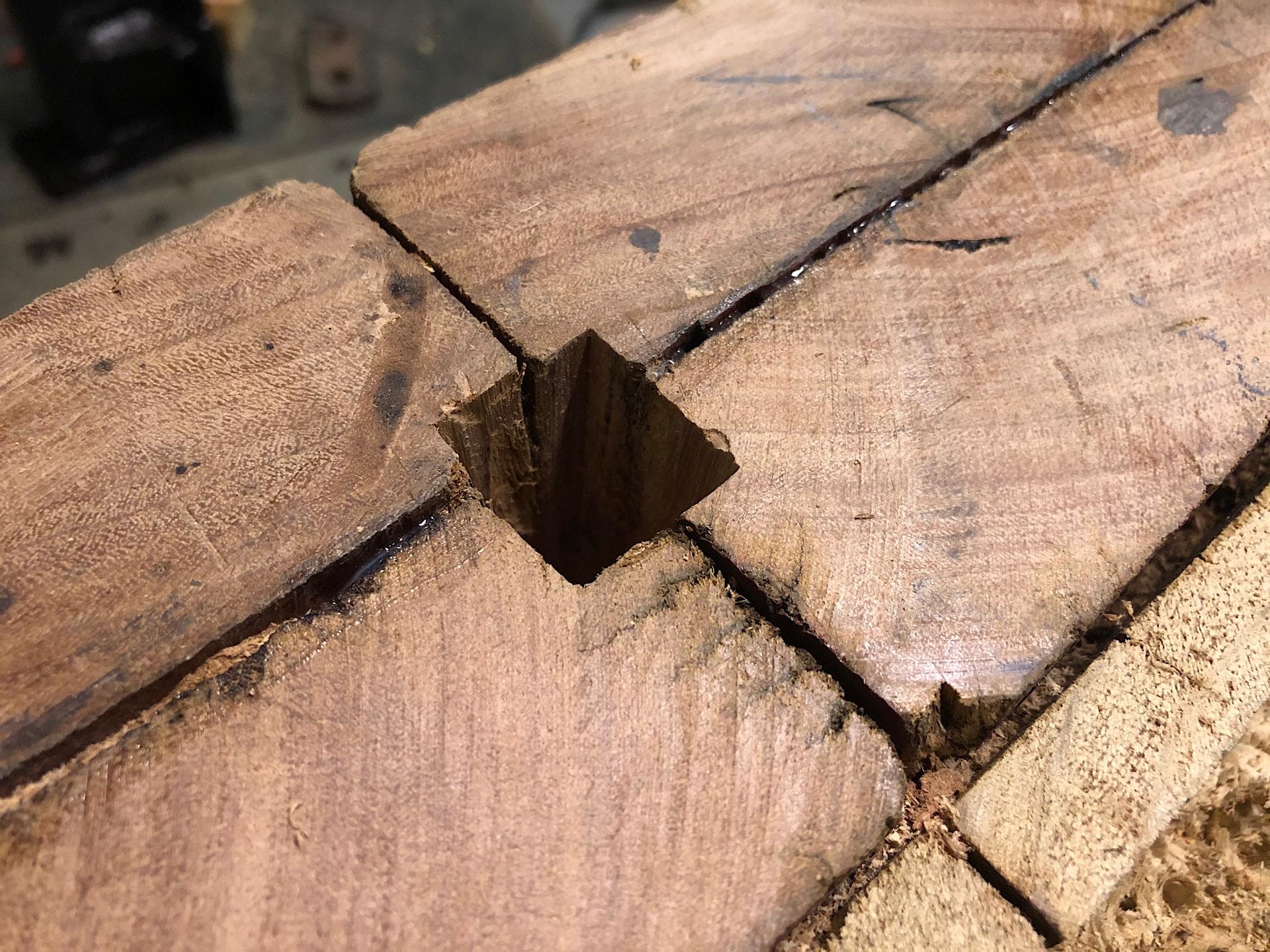 Squared hardy hole