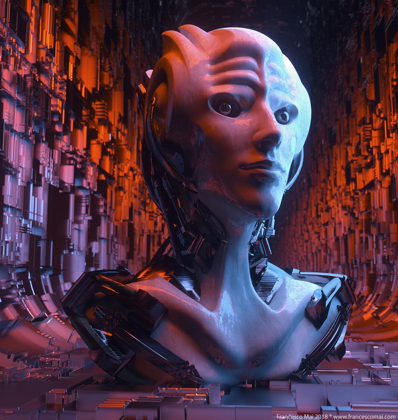 Testa Femminile cyber queen mat bianco occhigreeble tunnel con layer ok RED.jpg