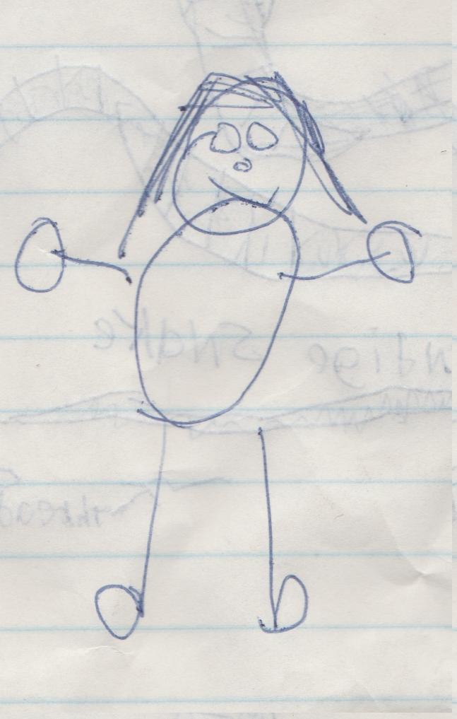 1996 maybe - Girl - maybe a Crystal drawing.jpg