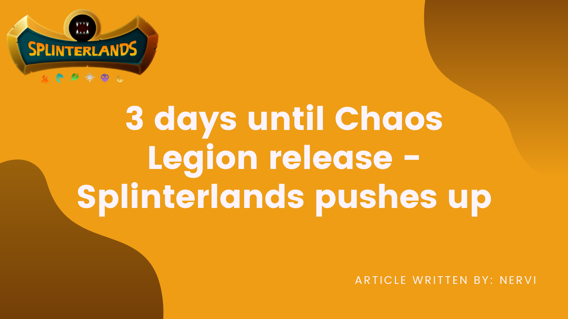 3 days until Chaos Legion release  Splinterlands pushes up.png