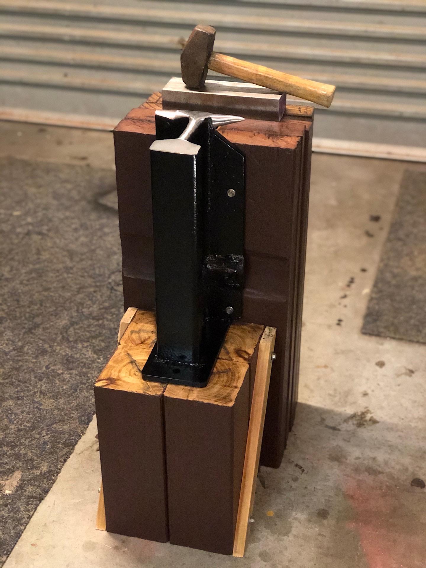My homemade crane rail anvil