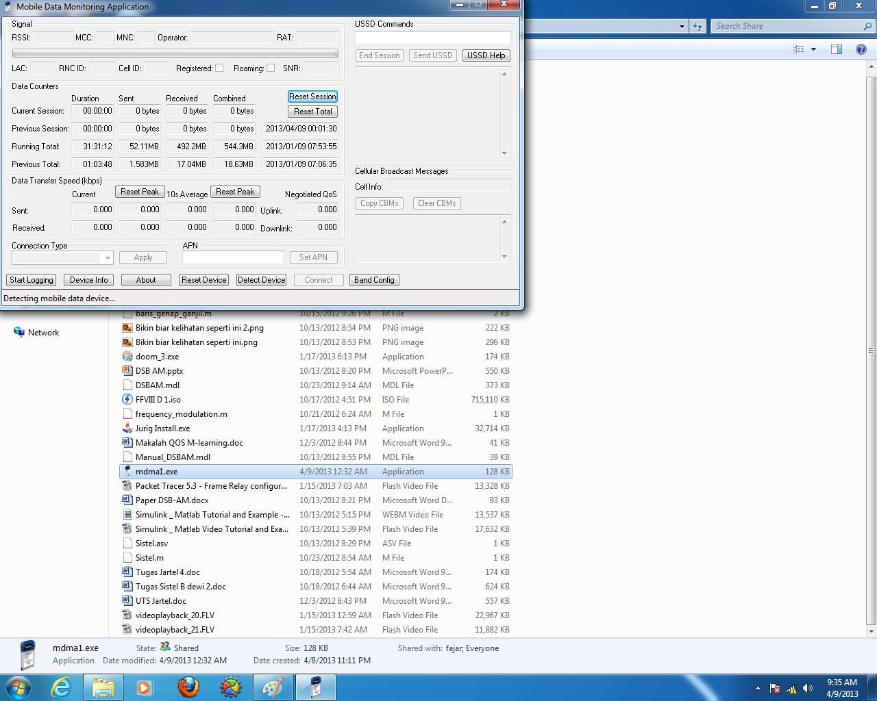 Gambar 4.3 Korban membuka file mdma1.exe .jpg