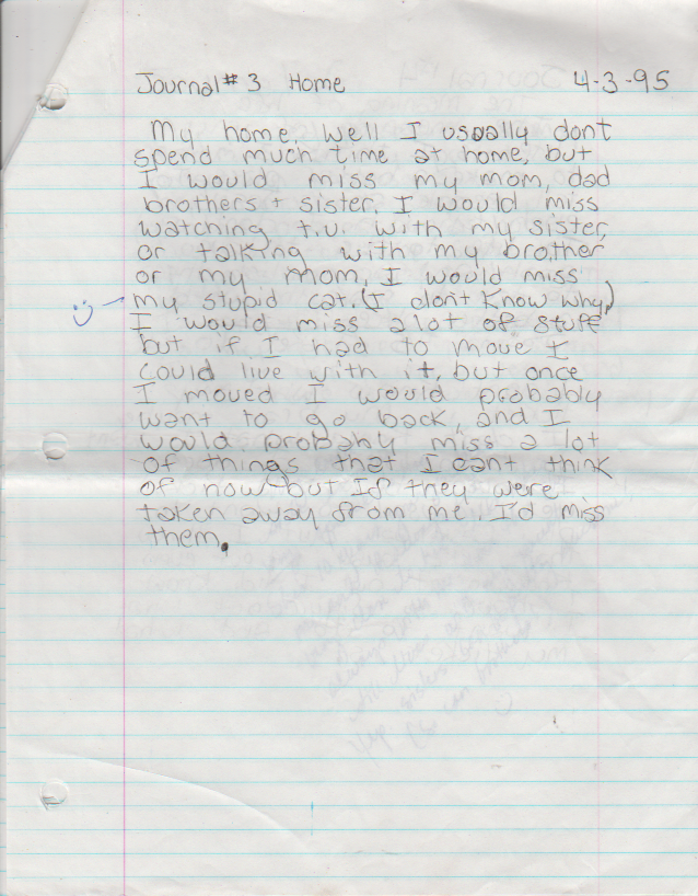 1995-05-04 - Thursday - 7 journal entries, period 8, Katie Arnold in May-2.png