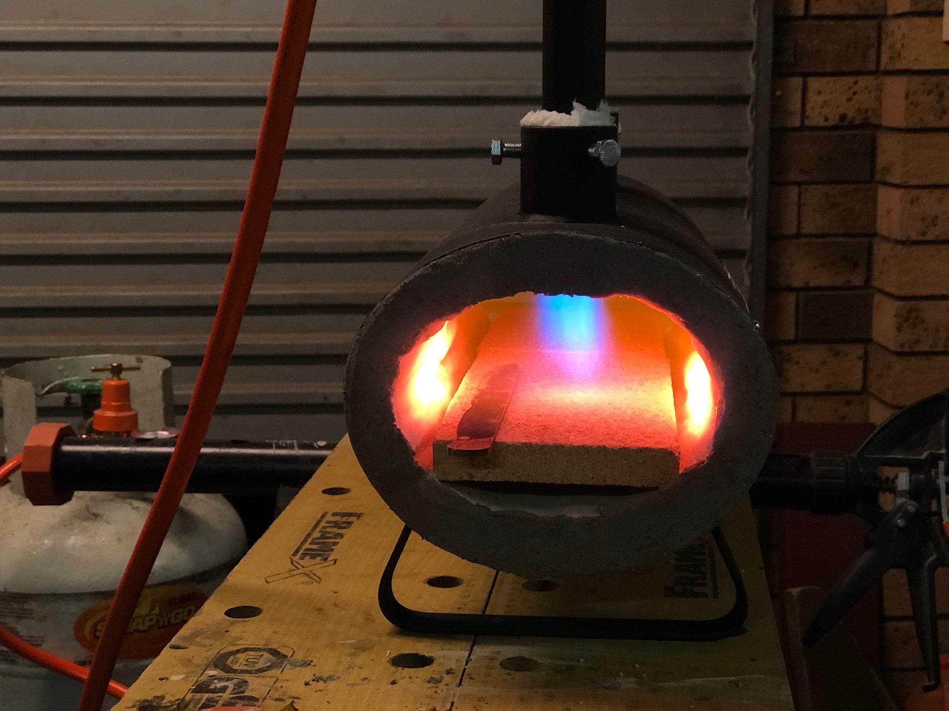 Heat treating a knife