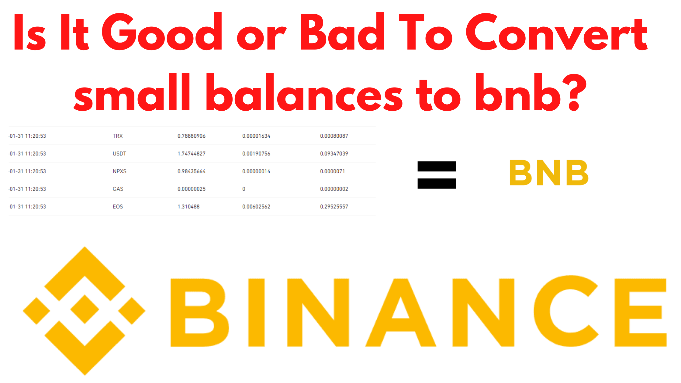 Analysis Is It Good or Wrong Investment Advice To Convert Small Balances Into BNB.png