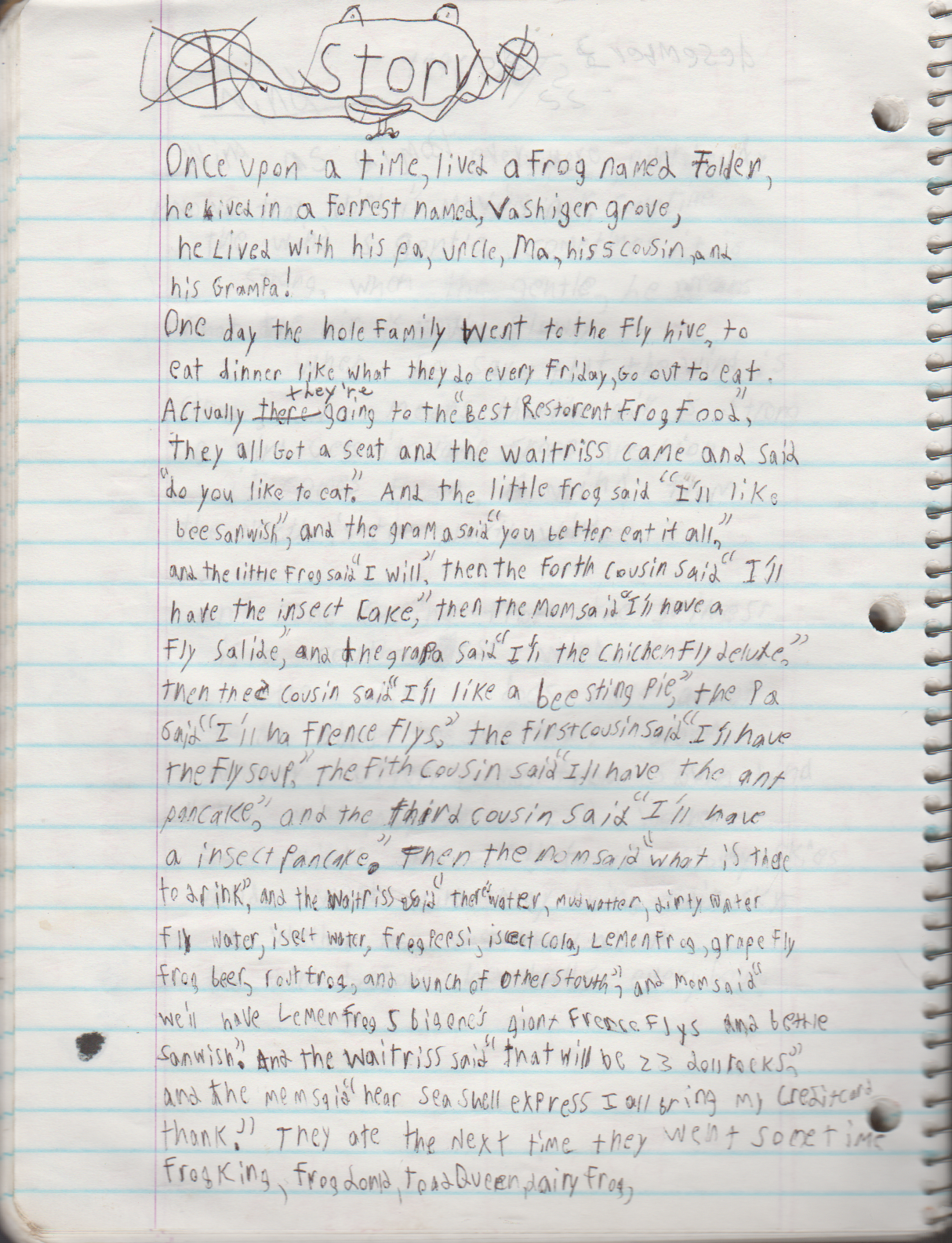 1996-08-18 - Saturday - 11 yr old Joey Arnold's School Book, dates through to 1998 apx, mostly 96, Writings, Drawings, Etc-083.png