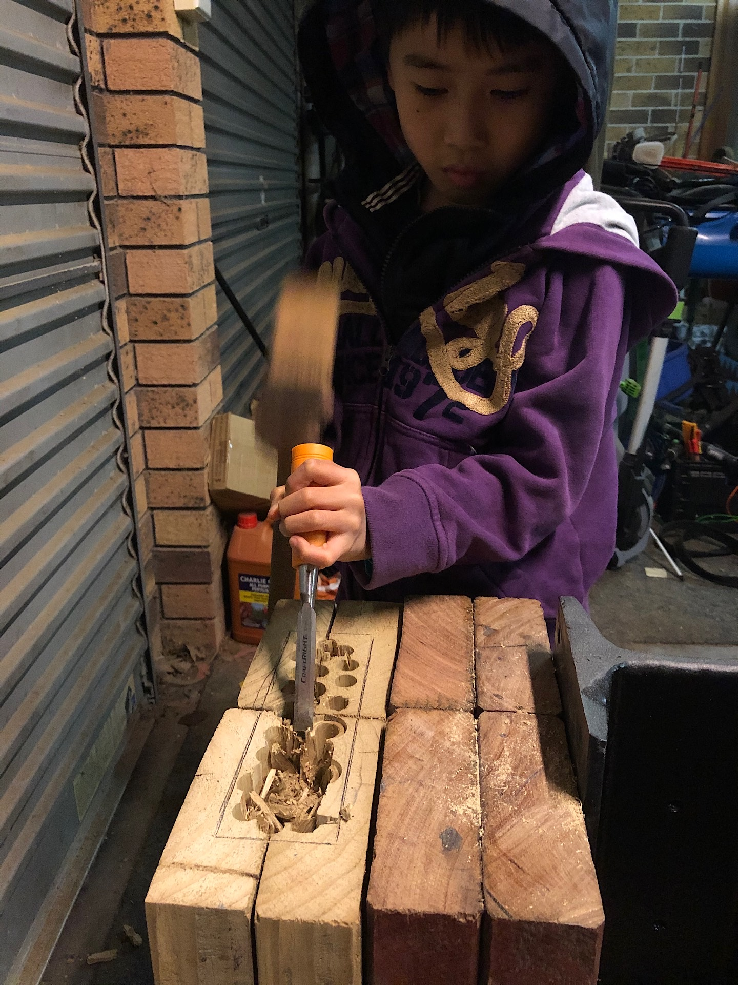 Chisel into a square hole