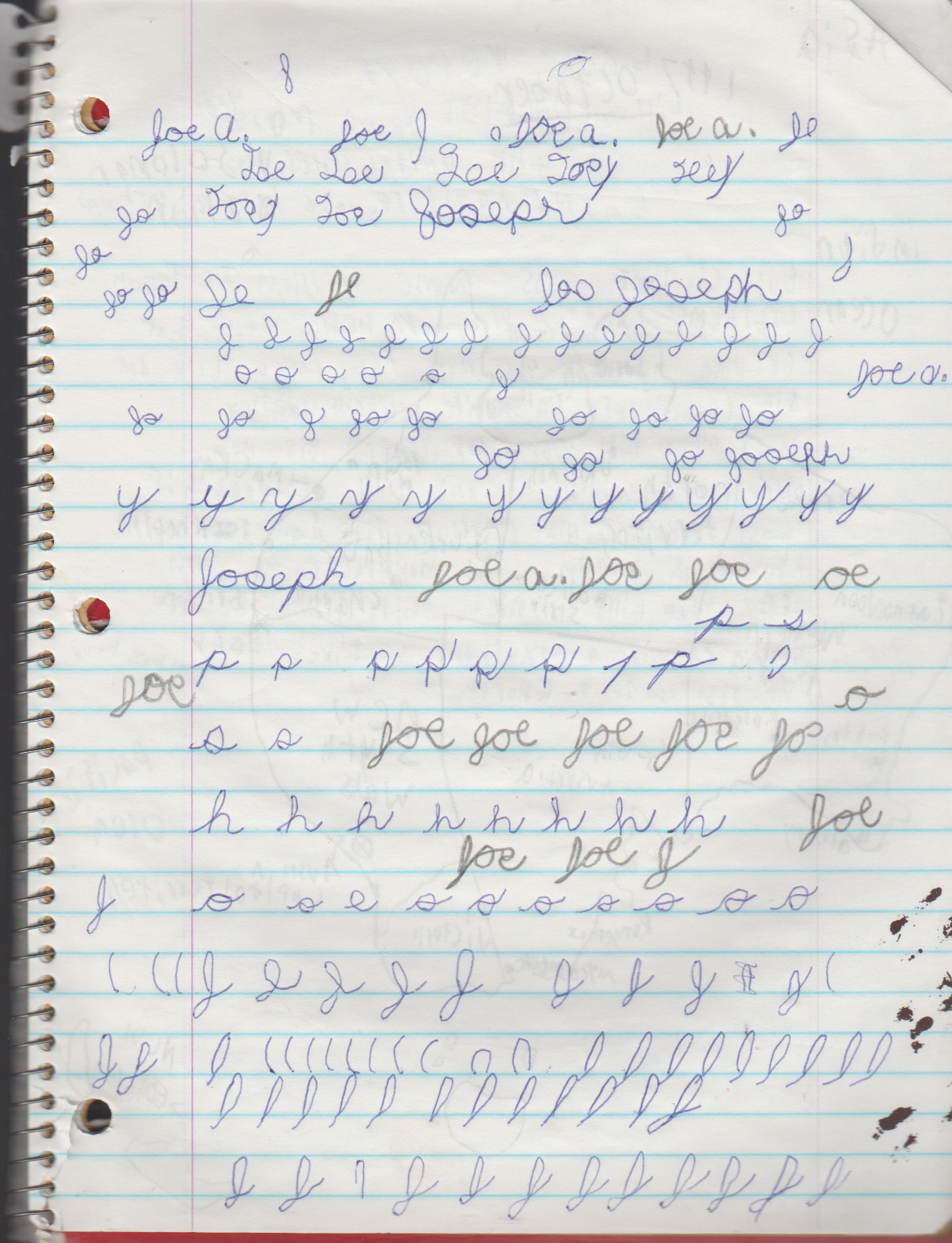 1996-08-18 - Saturday - 11 yr old Joey Arnold's School Book, dates through to 1998 apx, mostly 96, Writings, Drawings, Etc-095.png