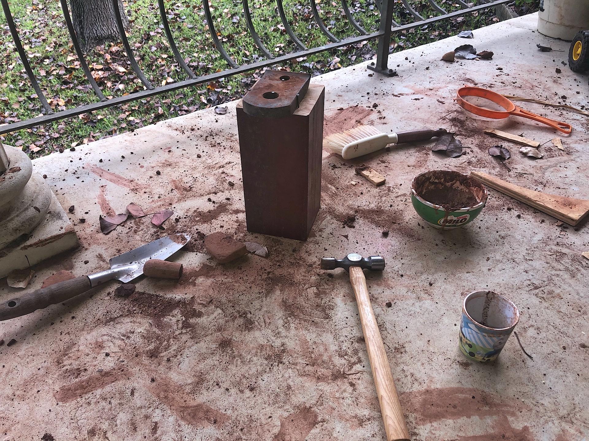 Mini stone breaking anvil for my son