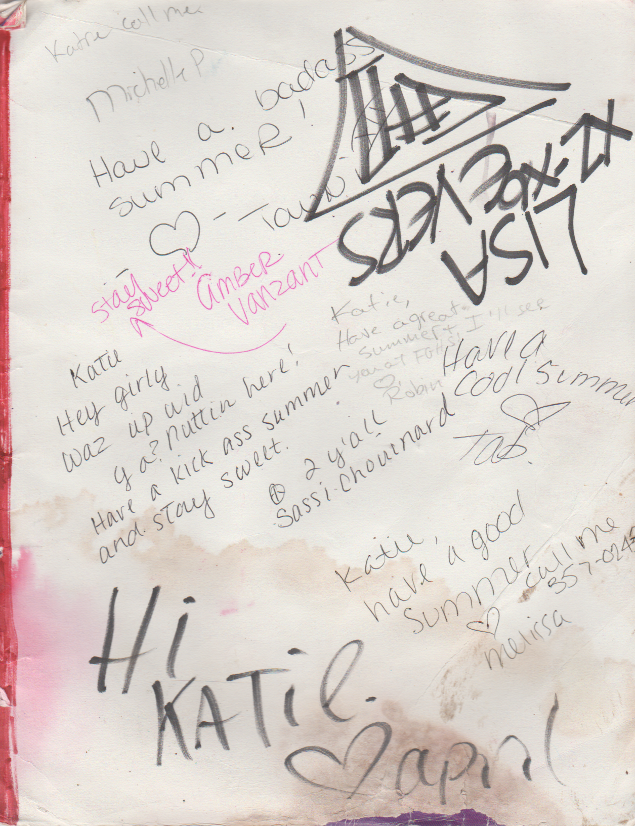 1994-06 - Katie Arnold, Neil Armstrong Memories Yearbook Cover, Signatures, Messages From Classmates-3.png