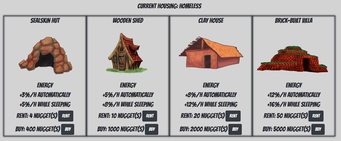 Housings interface
