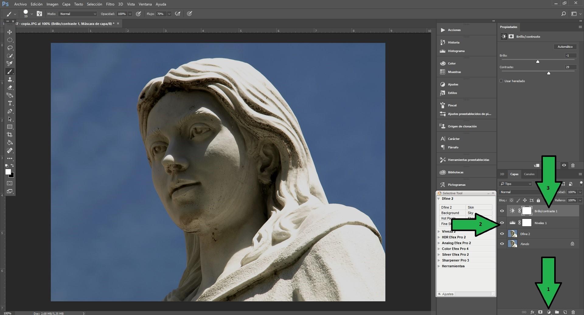 Paso nº4 Mascara de ajuste de Niveles y Brillo-contraste.jpg