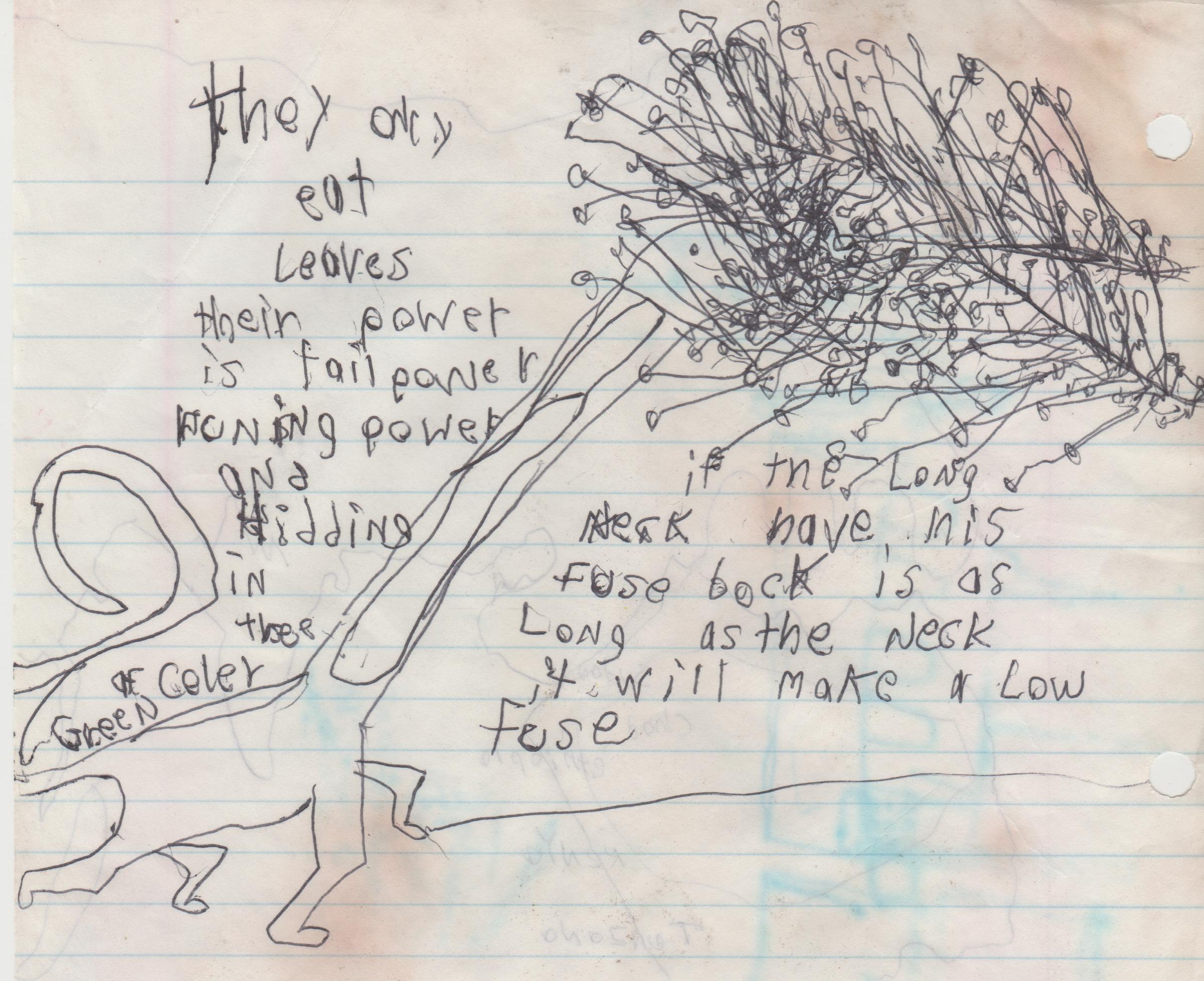 1995 maybe - Tall Dinosaur, tree.jpg