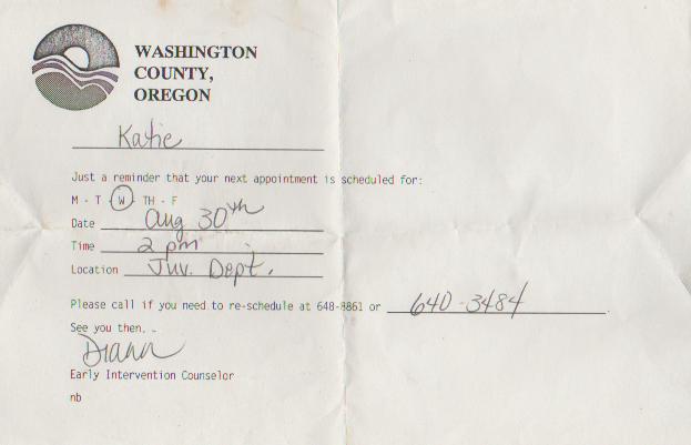 1995-08-30 - Wednesday - 02:00 PM PST - Washington County, Juvenile Department, Diann, Katie Arnold.png