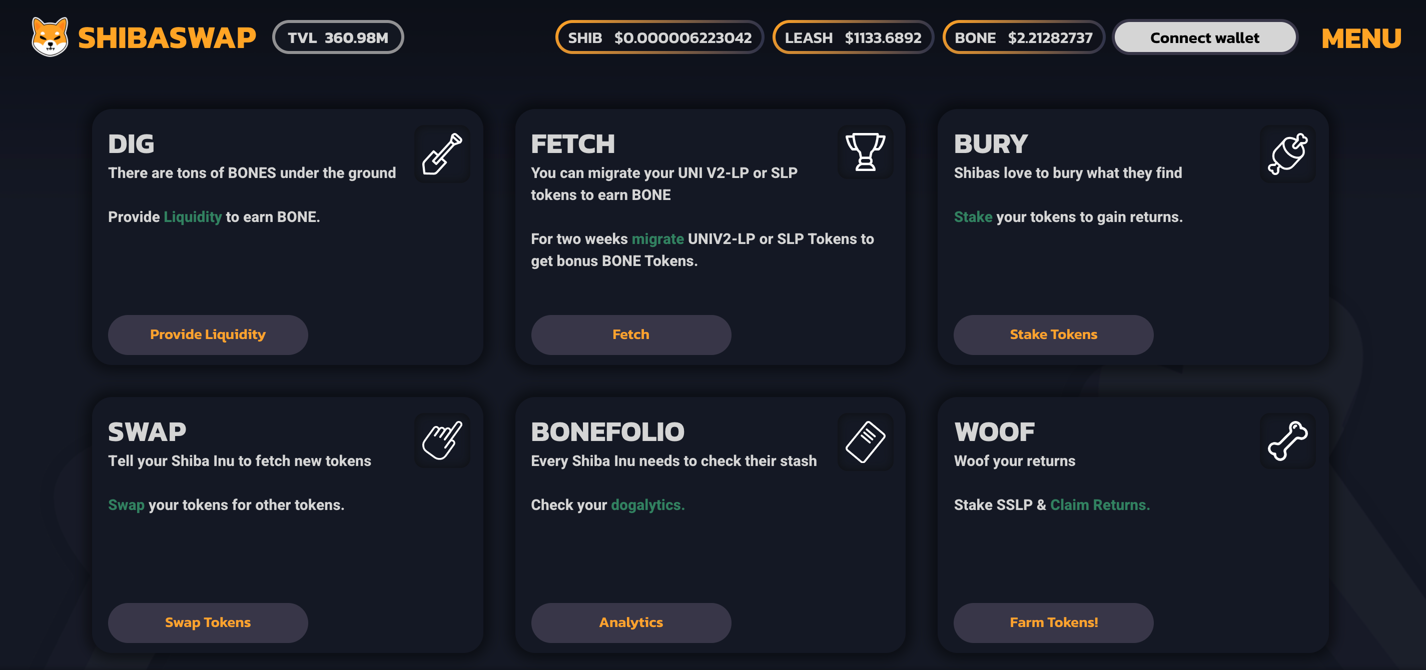 The next part of introducing Shiba Inu coin sees us take a look at the ShibaSwap decentralised exchange.