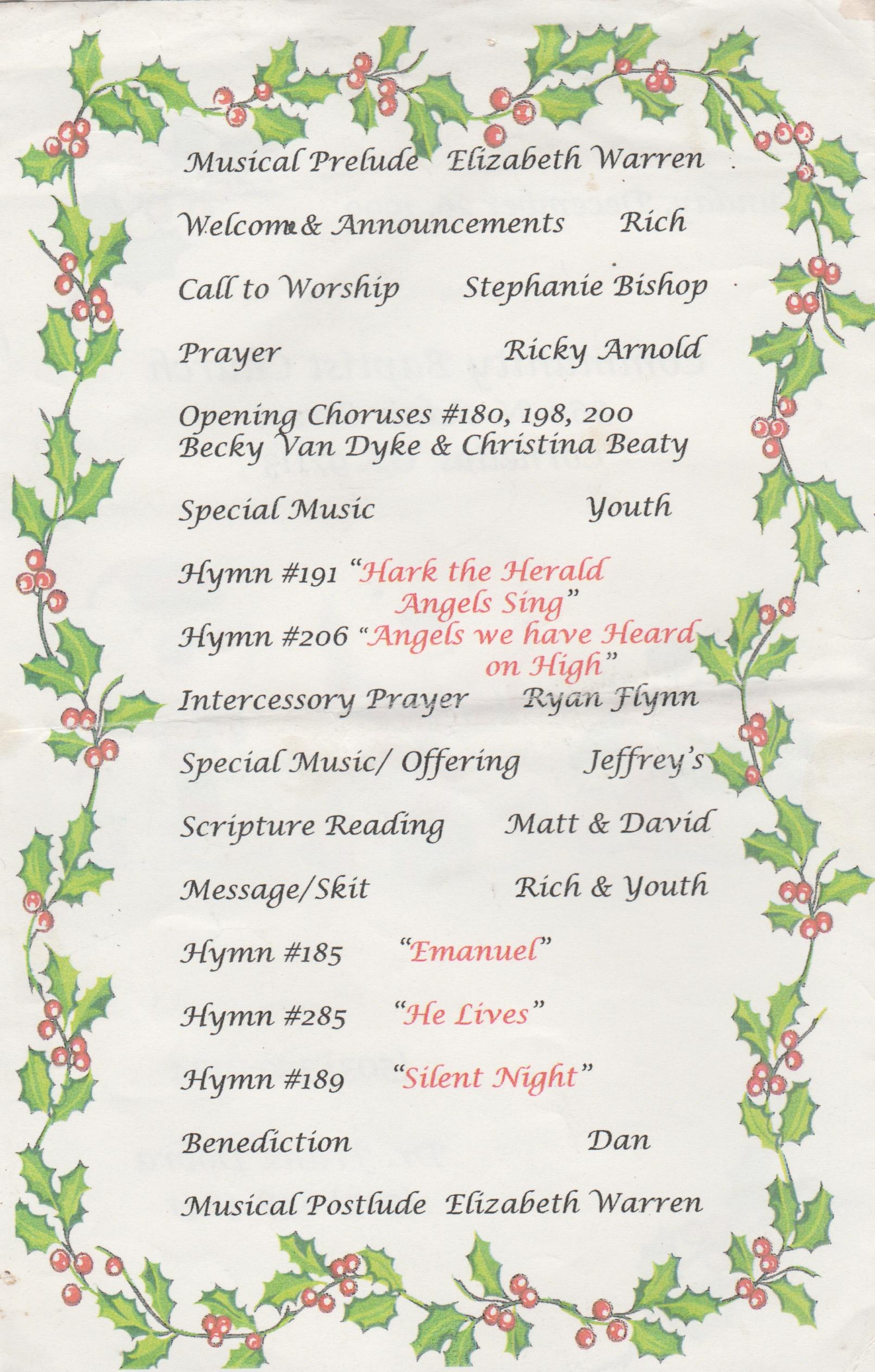 1999-12-26 - Sunday - Youth Sunday - Christmas - CCBC-2.jpg