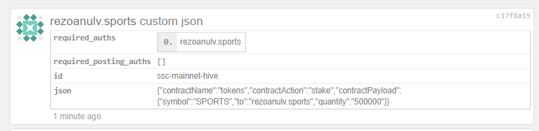 Staking 500,000 SPORTS Tokens Today 3.PNG