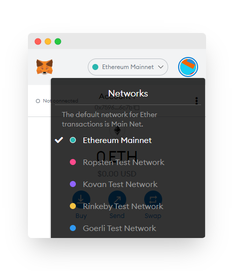 List of networks you can connect to.