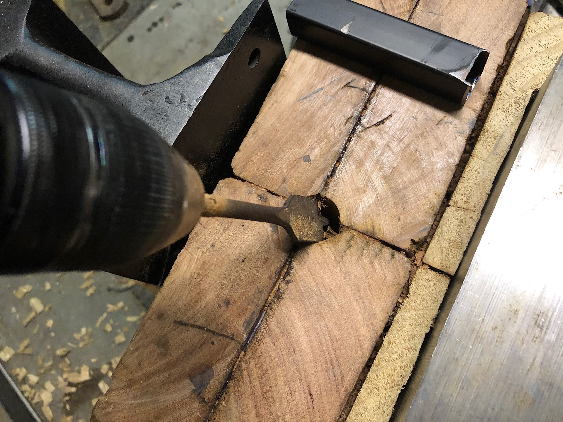 Drilling a hardy hole