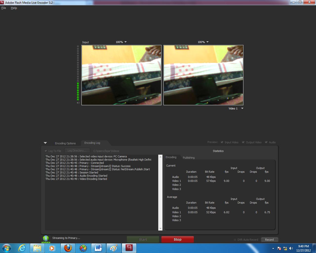 Gambar 3.12 Tampilan Adobe Flash Media Live Encoder jika sedang berjalan.png
