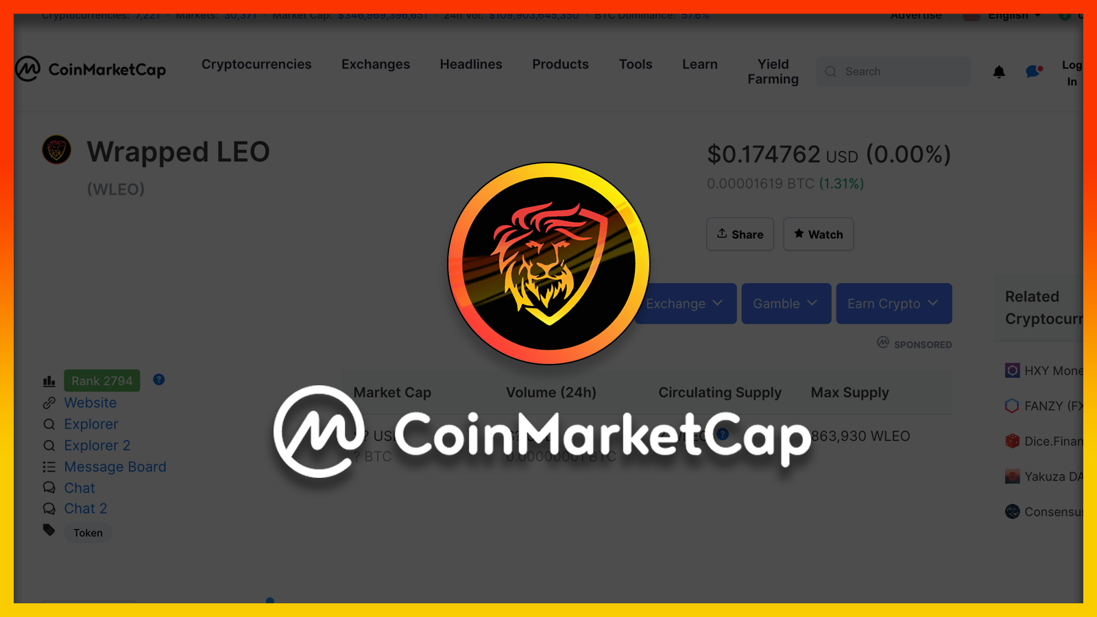 WLEO Has been Listed on CoinMarketCap  Does This Benefit LEO Stakeholders?.png