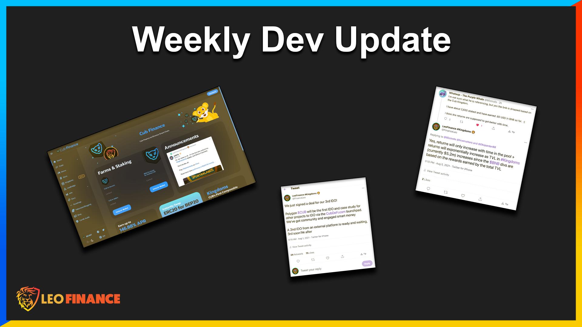 LeoFinance x CUB Weekly Update.png