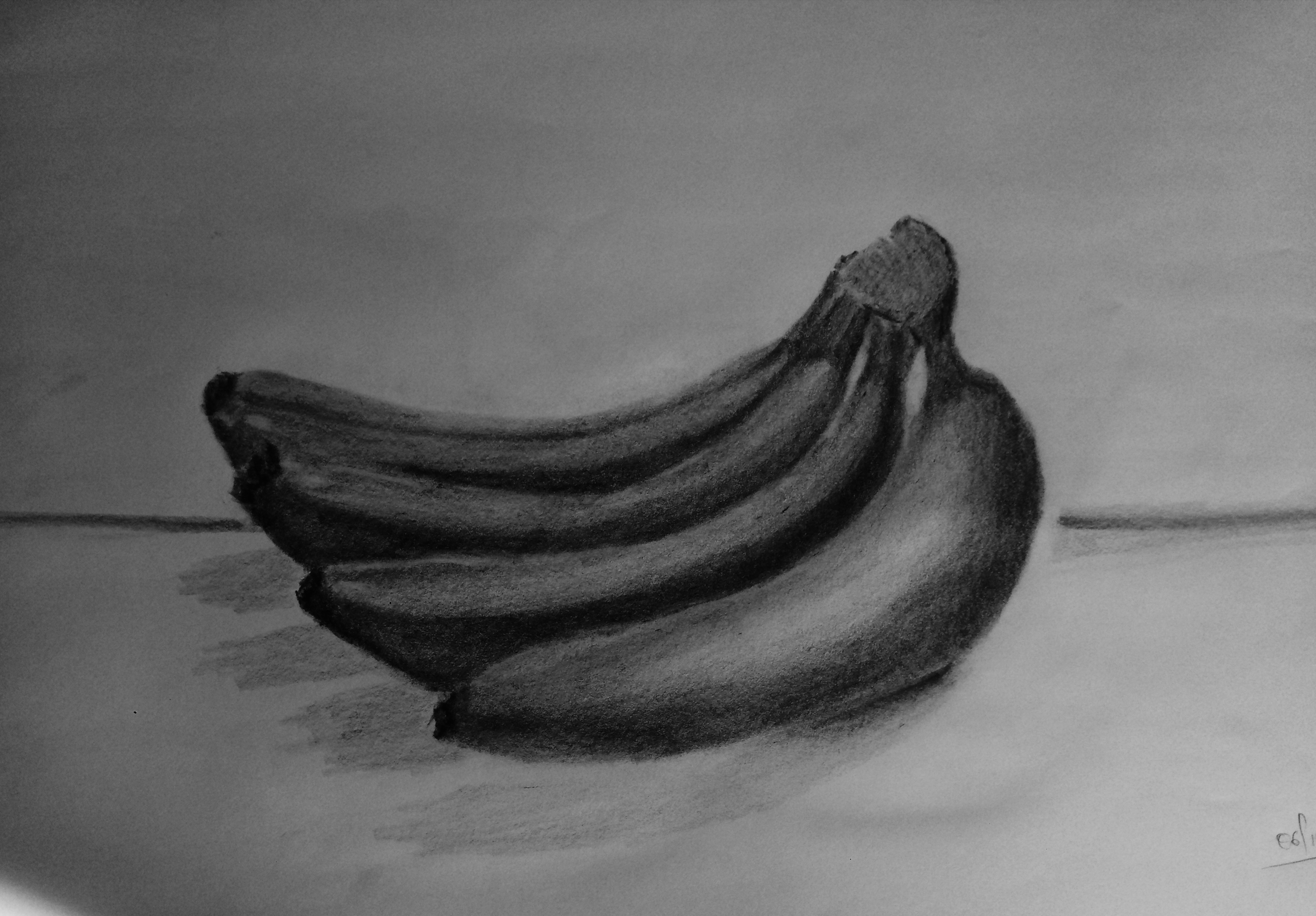 Bananas Pencil Drawing With Graphite Hive