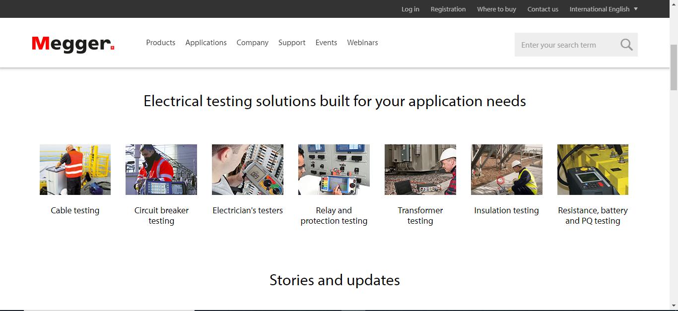 Screenshot Meger Website