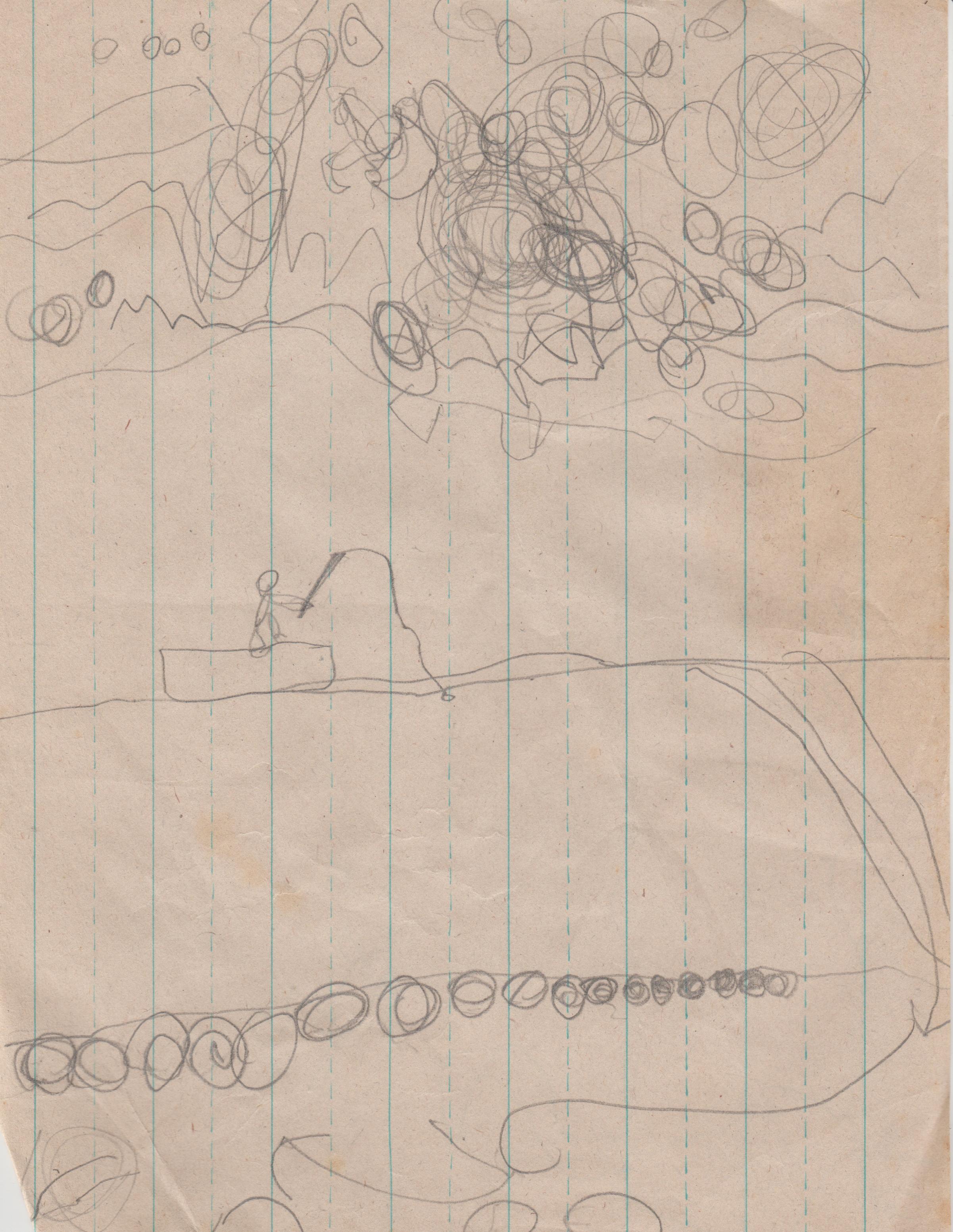 1994 maybe - Art - People, outside, house, running-1.jpg