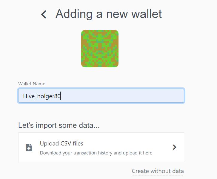 creating a new custom wallet