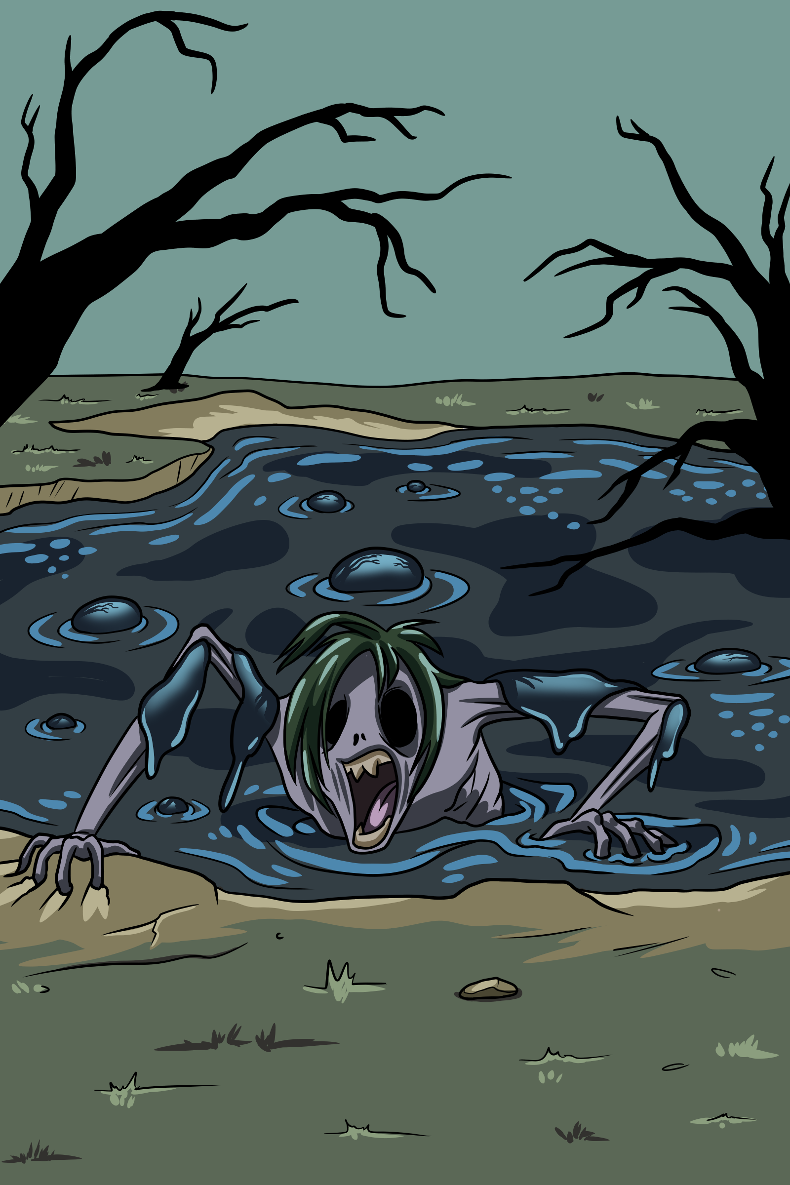 Zombie corpse emerging from tar pits of creation.png