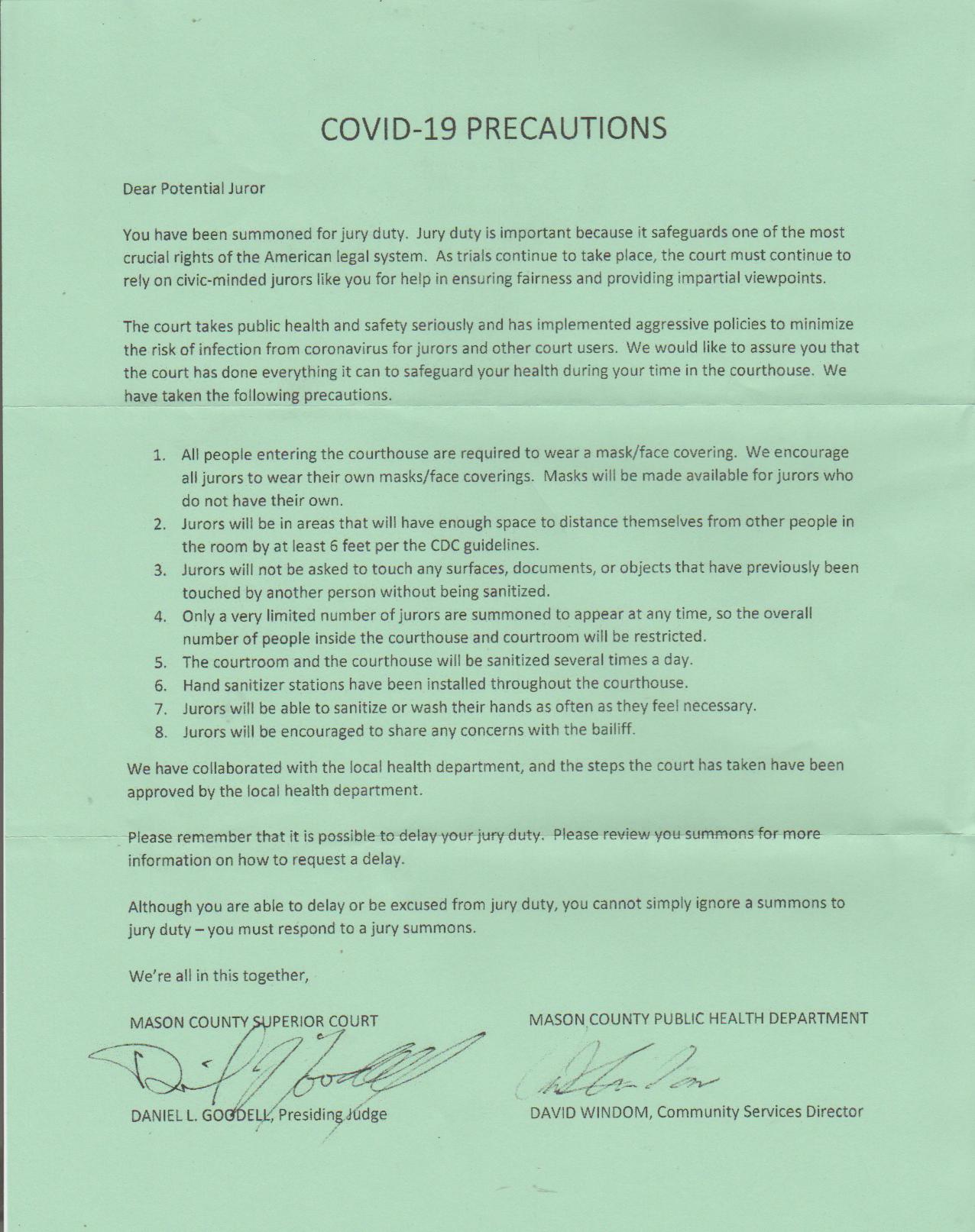 2020-11-07 - Saturday - 03:00 PM LMS JA - Jury Duty Request - Shelton WA - Covid Precaution Info, Fake News, Green Page.png
