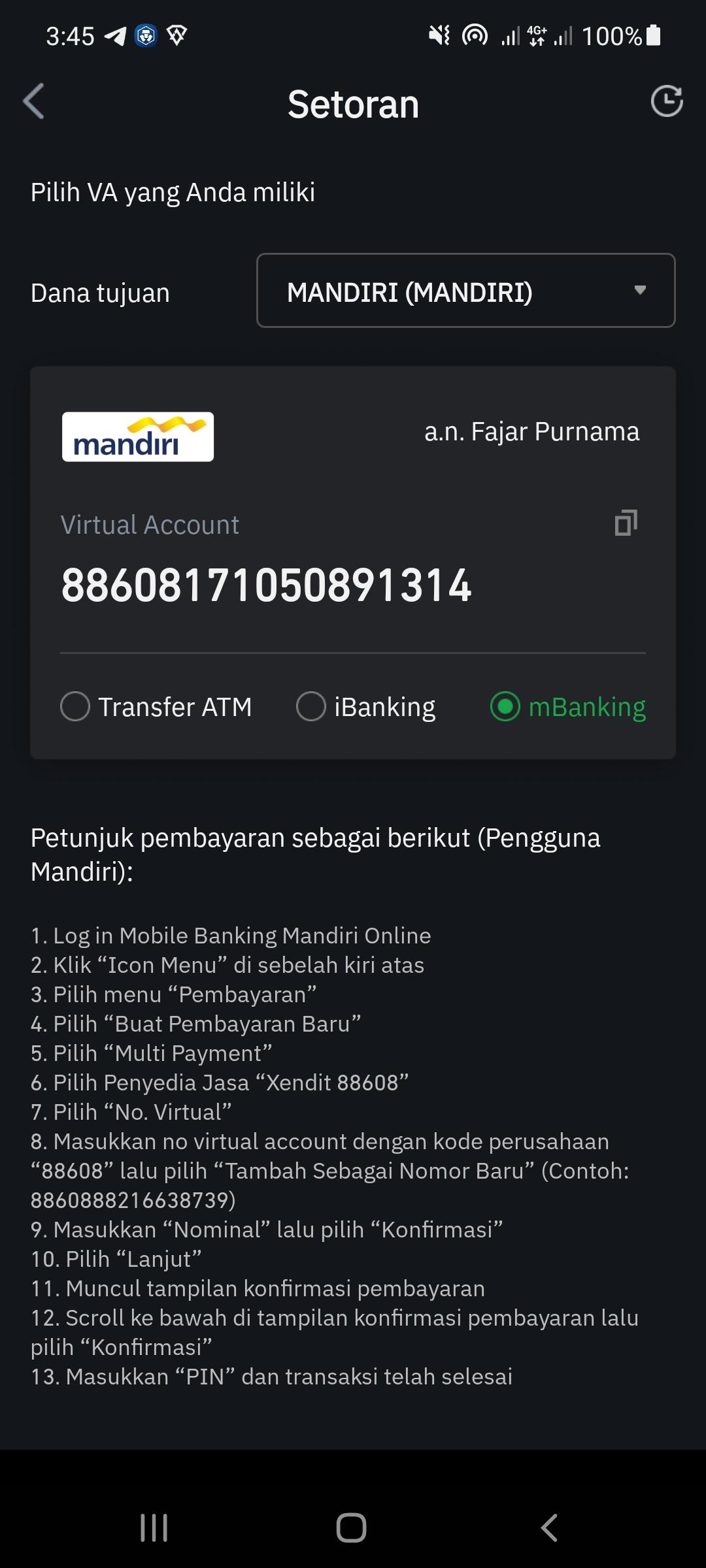 tokocrypto bidr deposit method