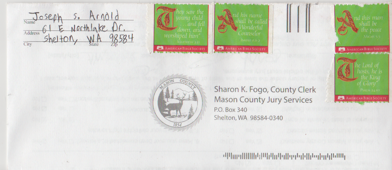 2020-11-07 - Saturday - 03:00 PM LMS JA - Jury Duty Request - Shelton WA - Return Envelope with stamps-1.png