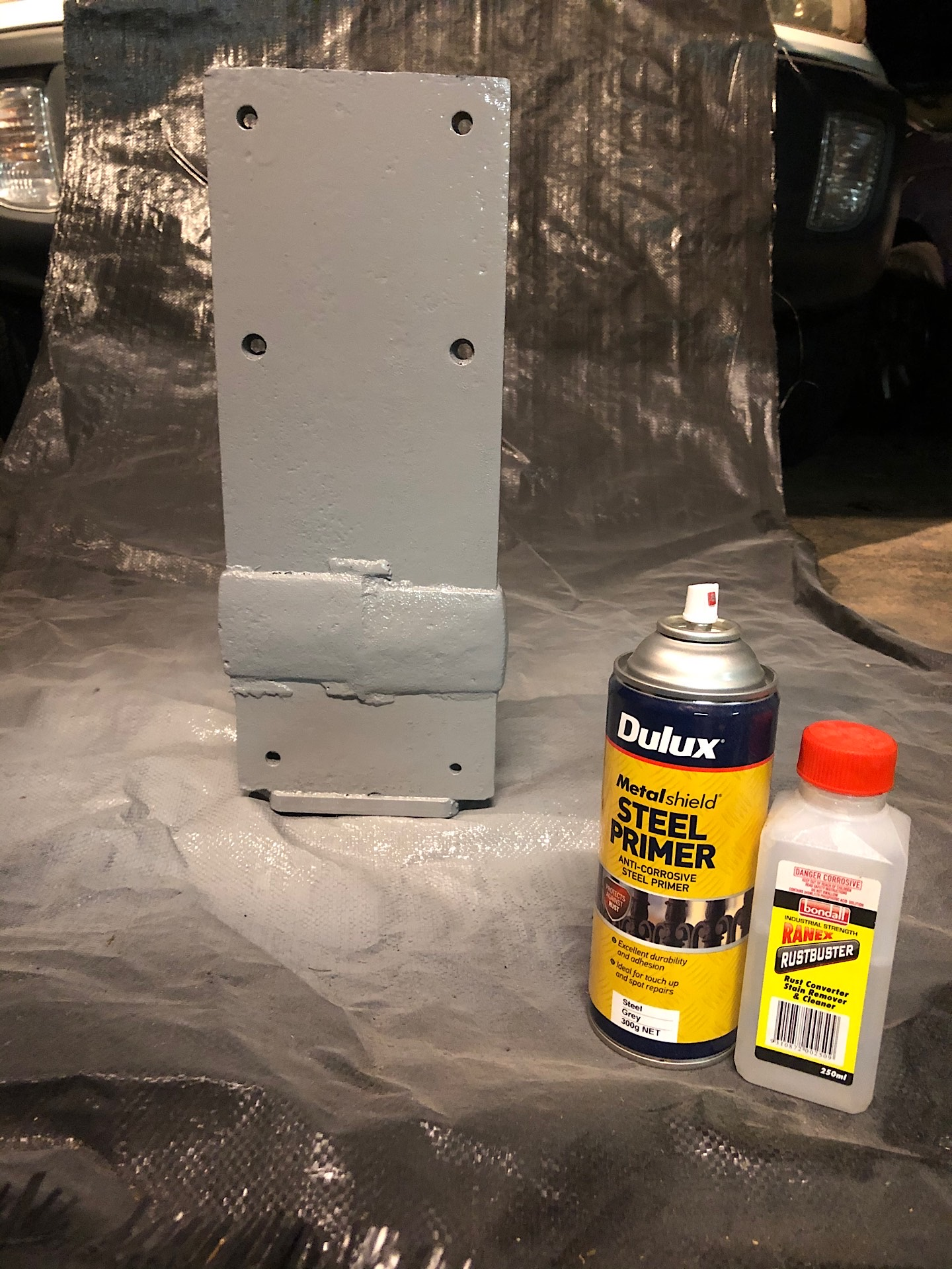 Converting rust and primed the rail track