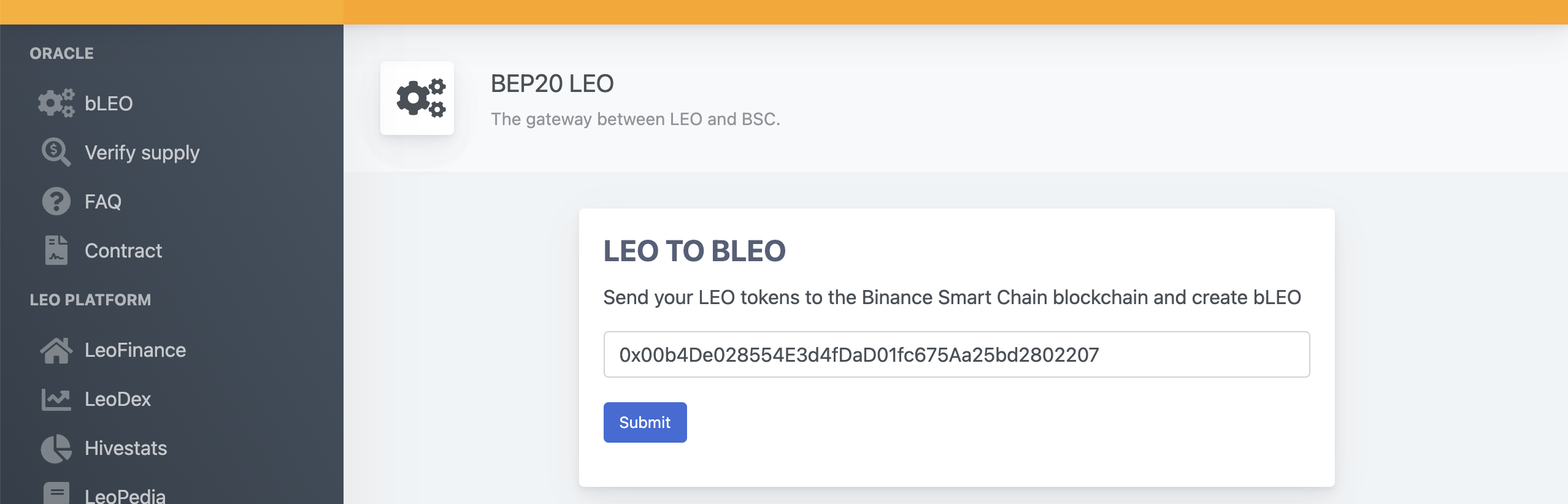 Copy your BSC wallet address from MetaMask.