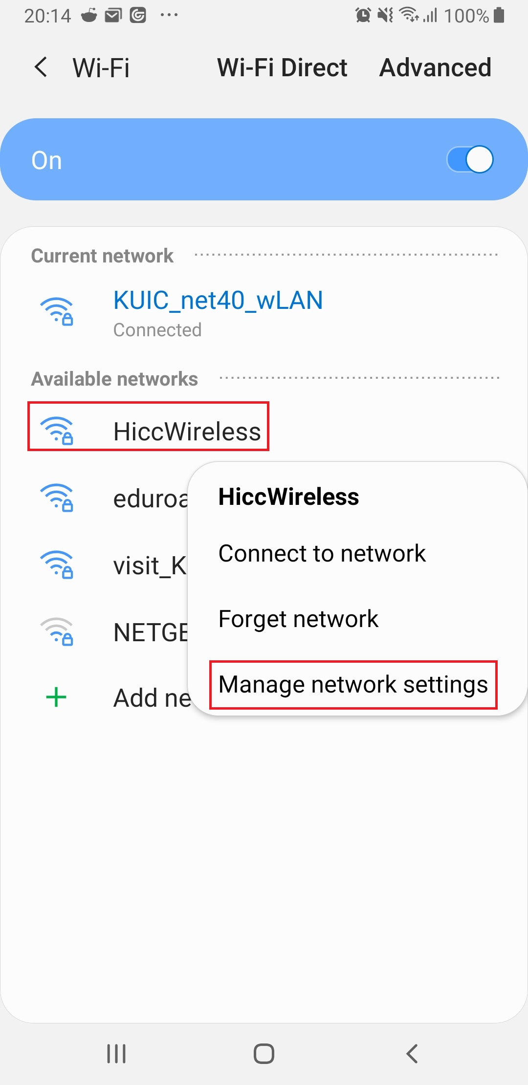 Figure 11. if you choose wifi then long press one of the hotspot then choose manage network settings.jpg