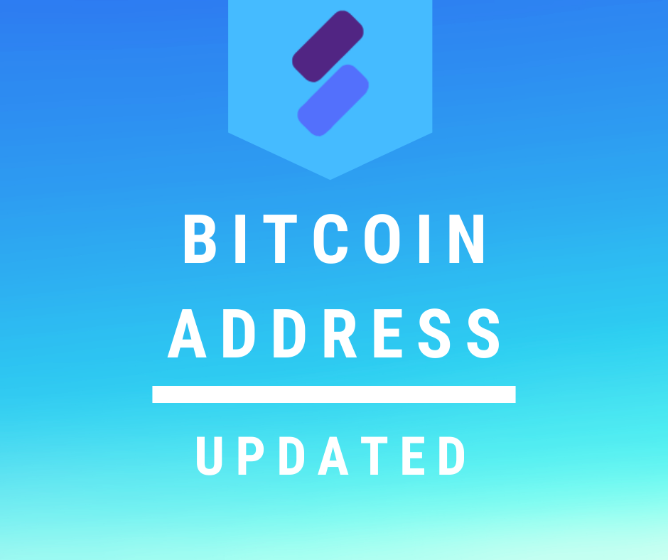 Bitcoin Address Updated