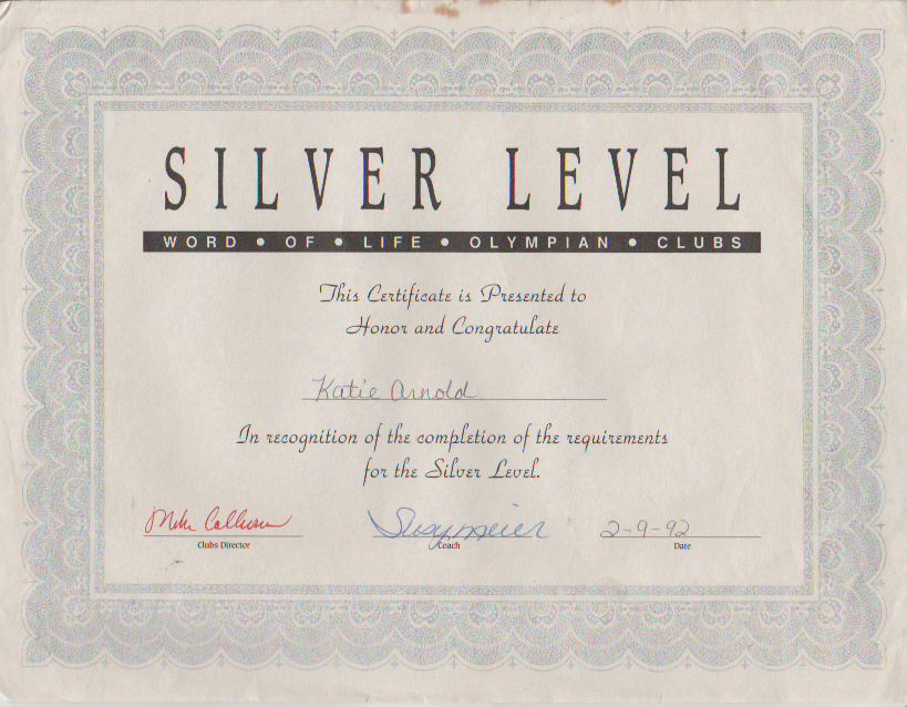 1992-02-09 - Sunday - WOL Olympians Silver Level, Katie Arnold.png