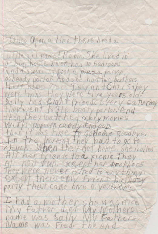 1989-03-28 - Tuesday - Susie Short Story by 8-year-old Katie Jean Arnold, Emmaus Christian School, plus Robin Short Story with no date included-3.png