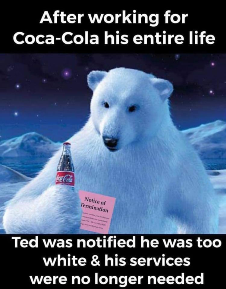 Coco Cola White Polar Bear Fired For Being Too White.jpg