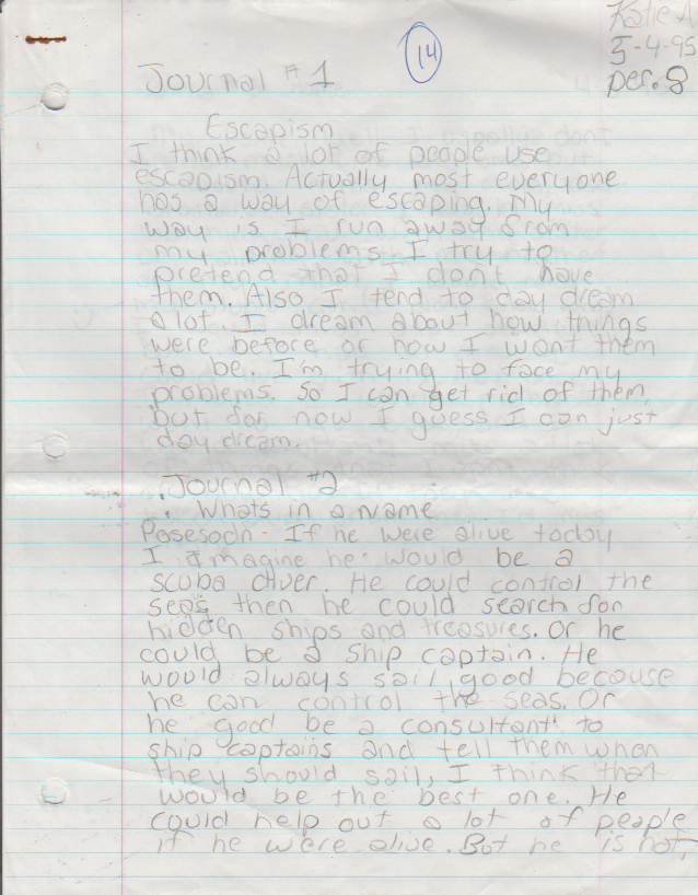1995-05-04 - Thursday - 7 journal entries, period 8, Katie Arnold in May-1.png