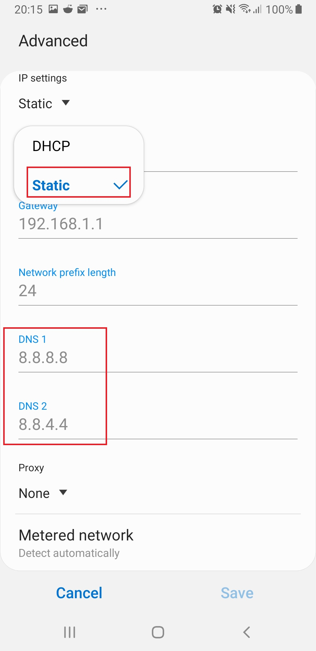 Figure 13. change DHCP to static and set DNS.jpg