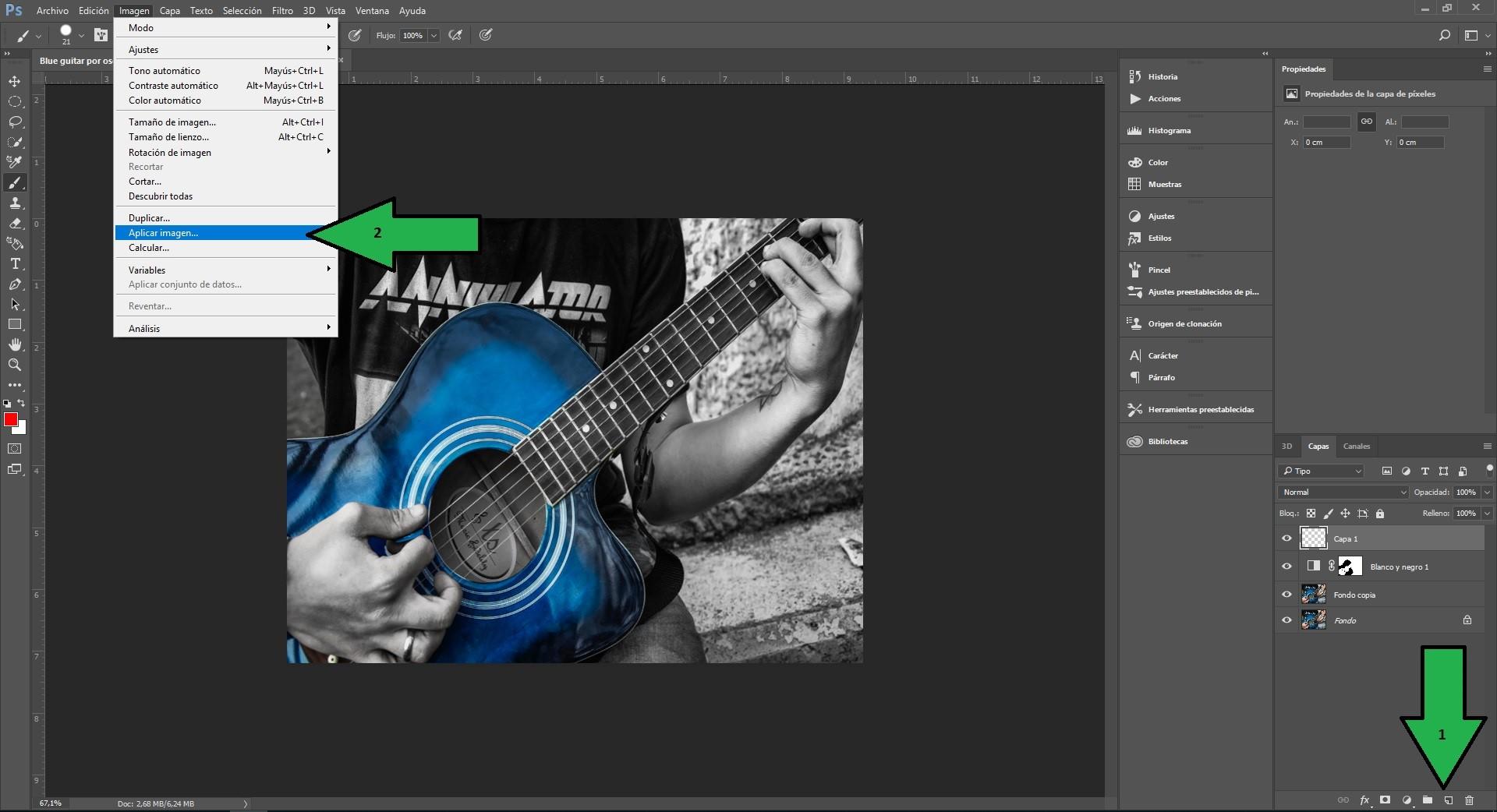 Paso nº6 crear capa y acoplar imagen .jpg