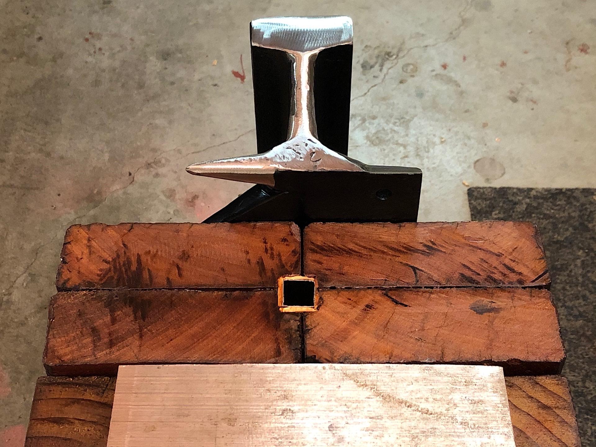 Rear view of my DIY rail anvil