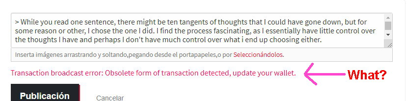 Transaction Broadcast Error